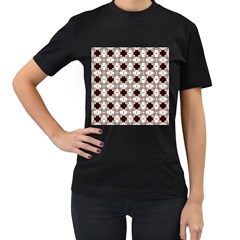 Cute Pretty Elegant Pattern Women s T-Shirt (Black) (Two Sided)