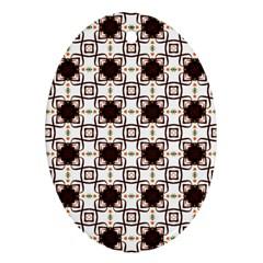 Cute Pretty Elegant Pattern Oval Ornament (two Sides)