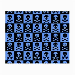 Blue Skull Checkerboard Small Glasses Cloth