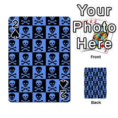 Blue Skull Checkerboard Playing Cards 54 Designs
