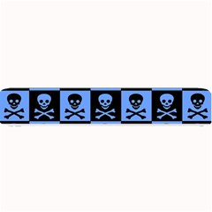 Blue Skull Checkerboard Small Bar Mats