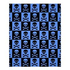 Blue Skull Checkerboard Shower Curtain 60  x 72  (Medium)