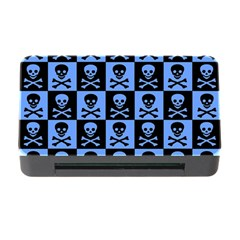 Blue Skull Checkerboard Memory Card Reader with CF