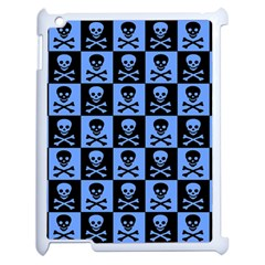 Blue Skull Checkerboard Apple Ipad 2 Case (white)