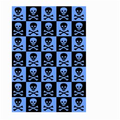 Blue Skull Checkerboard Large Garden Flag (Two Sides)