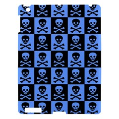 Blue Skull Checkerboard Apple Ipad 3/4 Hardshell Case