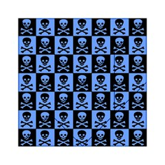 Blue Skull Checkerboard Acrylic Tangram Puzzle (6  X 6 )