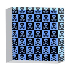 Blue Skull Checkerboard 5  x 5  Acrylic Photo Blocks