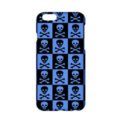 Blue Skull Checkerboard Apple Iphone 6 Hardshell Case
