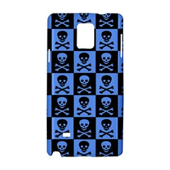 Blue Skull Checkerboard Samsung Galaxy Note 4 Hardshell Case