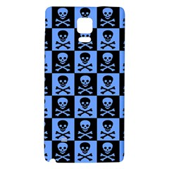 Blue Skull Checkerboard Galaxy Note 4 Back Case
