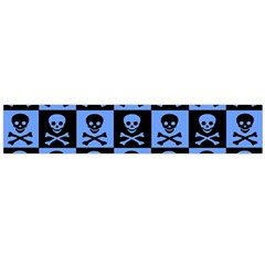 Blue Skull Checkerboard Flano Scarf (large)