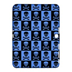 Blue Skull Checkerboard Samsung Galaxy Tab 4 (10.1 ) Hardshell Case