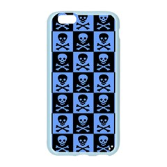 Blue Skull Checkerboard Apple Seamless iPhone 6 Case (Color)