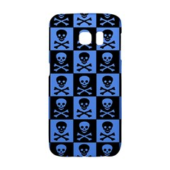 Blue Skull Checkerboard Galaxy S6 Edge