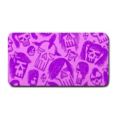 Purple Skull Sketches Medium Bar Mats