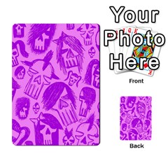 Purple Skull Sketches Multi Purpose Cards (rectangle)