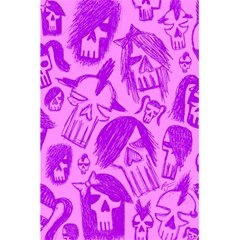 Purple Skull Sketches 5.5  x 8.5  Notebooks