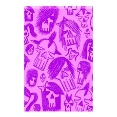 Purple Skull Sketches Shower Curtain 48  X 72  (small)