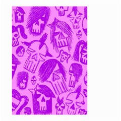 Purple Skull Sketches Small Garden Flag (Two Sides)