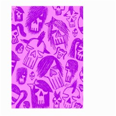 Purple Skull Sketches Large Garden Flag (Two Sides)