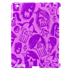 Purple Skull Sketches Apple Ipad 3/4 Hardshell Case (compatible With Smart Cover)