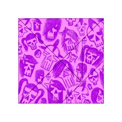 Purple Skull Sketches Acrylic Tangram Puzzle (4  X 4 )