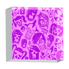 Purple Skull Sketches 5  x 5  Acrylic Photo Blocks