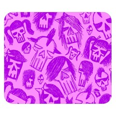 Purple Skull Sketches Double Sided Flano Blanket (Small)