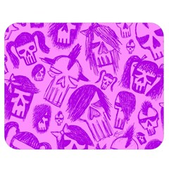 Purple Skull Sketches Double Sided Flano Blanket (medium)