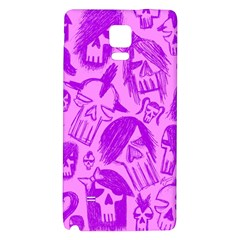 Purple Skull Sketches Galaxy Note 4 Back Case