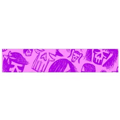 Purple Skull Sketches Flano Scarf (Small)
