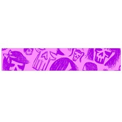 Purple Skull Sketches Flano Scarf (Large)