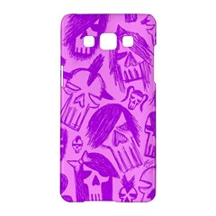 Purple Skull Sketches Samsung Galaxy A5 Hardshell Case