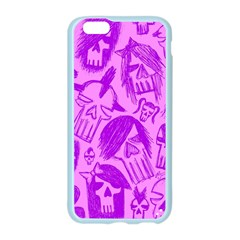 Purple Skull Sketches Apple Seamless iPhone 6 Case (Color)