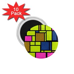 Squares And Rectangles 1 75  Magnet (10 Pack)
