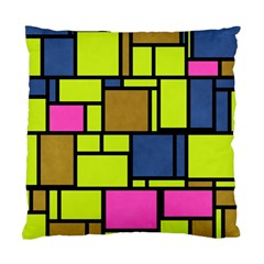 Squares And Rectangles Standard Cushion Case (two Sides)
