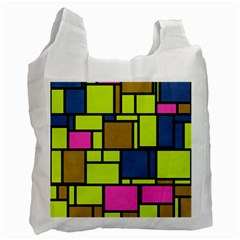 Squares And Rectangles Recycle Bag (one Side)