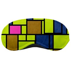 Squares And Rectangles Sleeping Mask