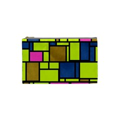 Squares And Rectangles Cosmetic Bag (small)