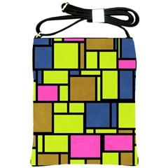 Squares And Rectangles Shoulder Sling Bag