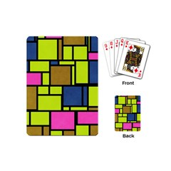 Squares And Rectangles Playing Cards (mini)