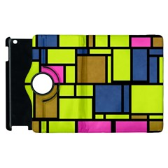 Squares And Rectangles Apple Ipad 3/4 Flip 360 Case