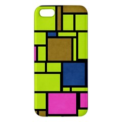 Squares And Rectangles Iphone 5s Premium Hardshell Case