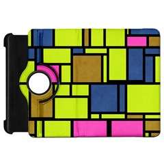 Squares And Rectangleskindle Fire Hd Flip 360 Case