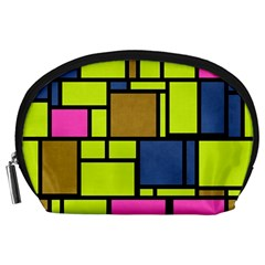 Squares And Rectangles Accessory Pouch