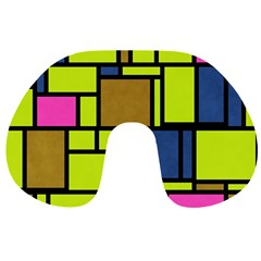 Squares and rectangles Travel Neck Pillow