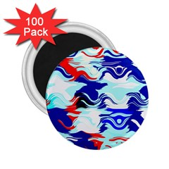 Wavy Chaos 2 25  Magnet (100 Pack)