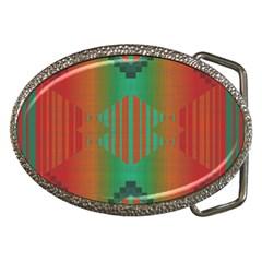 Striped Tribal Pattern Belt Buckle