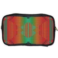 Striped Tribal Pattern Toiletries Bag (two Sides)